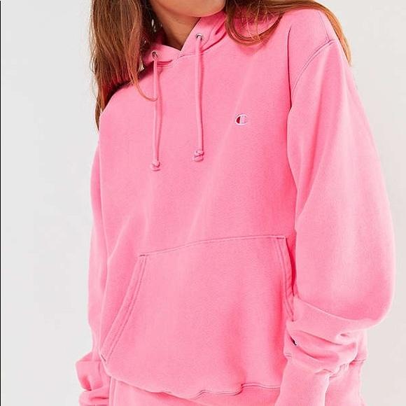 ae4d58f2b99 Neon pink champion hoodie. M 5aba98db84b5ce6248a1d488